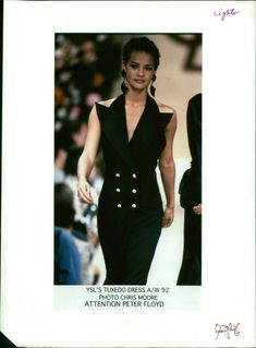 After-Dark tuxedo designed by Yves Saint Laurent French fashion designer.