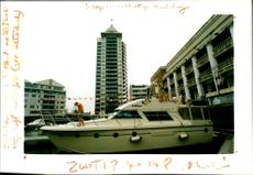 A portrait of Boats at Harbour Chelsea.
