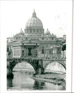St Peter's Basilica and River Tiber