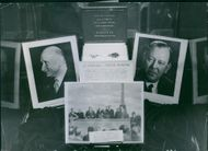 Photo frame of Trygve Halvdan Lie and Jean-Baptiste Nicolas Robert Schuman