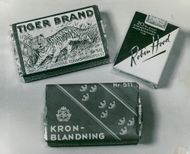 Tobacco Brands. Tiger Brand, Crown Mix and Robin Hood