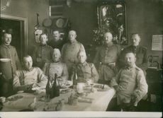 Soldiers and generals having drinks together.
