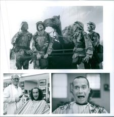 "A photos of David Alan Grier, Pauly Shore, Lori Petty, Andy Dick  in a film  ""IN THE ARMY NOW""."