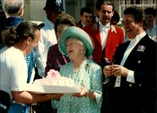 Queen Elizabeth was raised by an admirer on his 95th birthday.