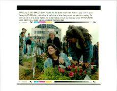 The wife of a slain Bosnian soldier.