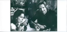 Ralph Fiennes and Kathryn Bigelow in the film of Strange Days. 1995