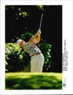 Golf player Ernie Els plays golf in Montego Bay