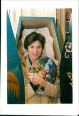 Roche lisette:lisette de roche a painter from w london who paints coffins.