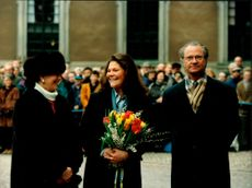 Crown Princess Victoria celebrates her name's day at Stockholm Castle with Queen Silvia and King Carl XVI Gustaf