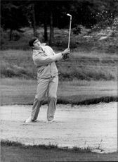 Action image on Seve Ballesteros taken under SEO.