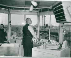 The route setting switchboard on the hump
