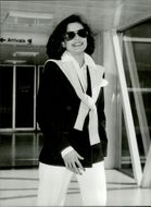 Bianca Jagger leaves Heathrow