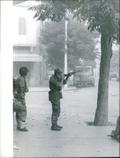 Soldiers during the Bizerte war in Tunisia, 1961.