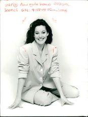 Actress Ruthie Henshall wears Paul Costelloe