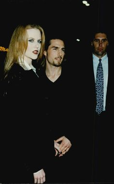 """Nicole Kidman, beautified as a vampire, and Tom Cruise arrives at the premiere of """"Interview with a vampire""""."""