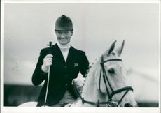 British equestrian Lucinda Green with her horse 'Willy B'