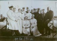 The staffs of a medical facility during the first Balkan War. 1912
