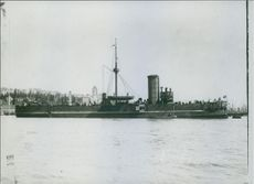 The crossing ture Feth-Bullers which has just been sunk by a Greek torpedo boat.