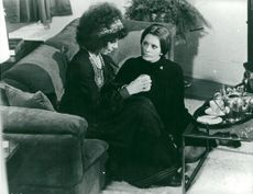 "Actors Michelle Rossignol and Sophia Loren in the movie ""Angela"""