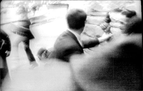 Tumult after President Reagan met in the chest at the murder attempt outside the Hilton Hotel