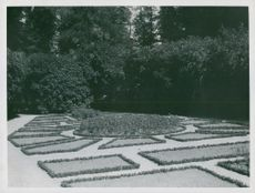 The spring garden in Ulriksdalsboskén, composed by Crown Prince Gustaf Adolf