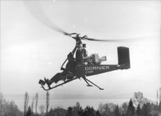 The construction of the one-man helicopter.