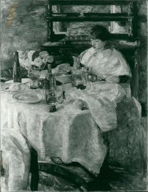 James Ensor work by : The oyster eater.
