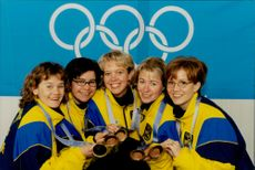 Louise Marmont, Elisabeth Persson, Katarina Nyberg, Elisabet Gustafsson and Margaretha Lindahl left Nagano with an Olympic bronze in curling.