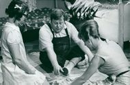 Yvonne Lombard, Sune Mangs and Maud Husberg in