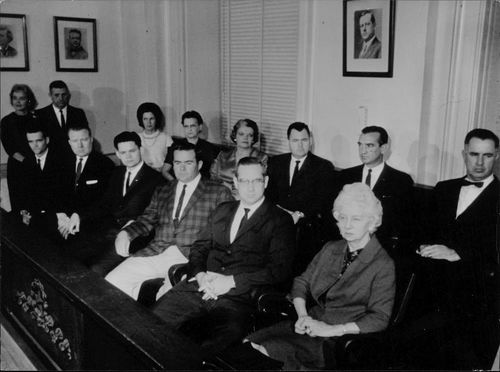 Jury seated for the murder trial of Jack Ruby, 1964.