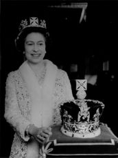 """Queen Elizabeth II with """"Imperial State Crown"""""""
