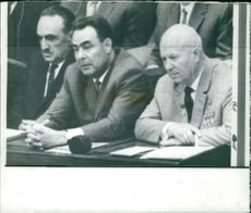 Mr. Khruschev, Mr. Mikoyan and Mr. Brezhnev.
