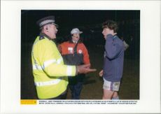 Andy Townsend Aston Villa captain talks with the police
