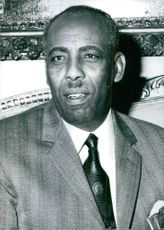 Portrait of Mohamed Siad Barre.