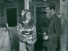 George Fant and Sickan Carlsson in the movie Country Storm Little Vixen, 1941.