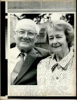 James Callaghan with his wife Audrey.