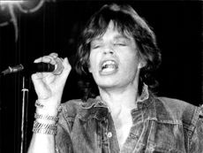 Mick Jagger on stage during a Rolling Stones concert in Germany