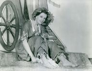 Phyllis Calvert as a bathing belle of 1906 in the English made picture