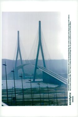 "View of the Normandy bridge ""Pont de Normandie"""