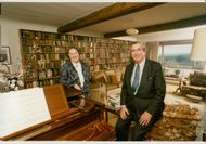 Denis Healey and his wife Edna in their home in Sussex Downs