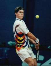 Action shot on Thomas Enqvist taken in an unknown contest.