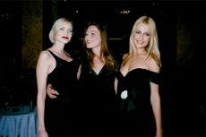 The models Nadja Auermann, Carla Bruni and Karen Mulder