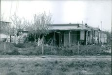 View of rustic house.1969