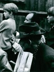 (Auction on Gotland, the beginning of the 70s) People attending at Auction on Gotland