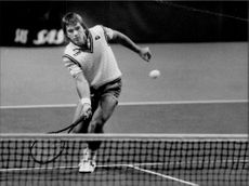 Johan Kriek in action during the Stockholm Open 1984