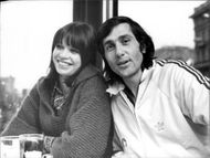 Tennis player Ilie Nastase together with woman