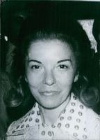 Close up of former President of Argentina and first female president of any country in the world Isabel Martínez de Perón