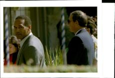 O. J. Simpson with Ron Goldman.
