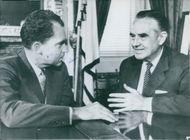 Averell Harriman with Richard Nixon