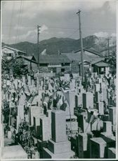 View of a Chinese graveyard.